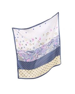 Corciova Women 100% Mulberry Silk Neck Scarf Small Square Scarves Neckerchiefs Wave Points and Butterflies Design