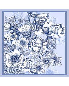 Corciova Women 100% Mulberry Silk Neck Scarf Small Square Scarves Neckerchiefs Beautiful Flowers Design