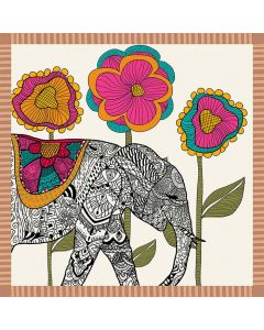 Corciova Women 100% Mulberry Silk Neck Scarf Small Square Scarves Neckerchiefs Elephants and Flowers Patterns