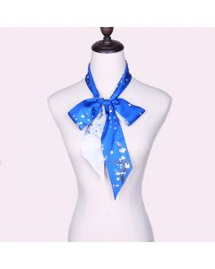 Corciova 12 Momme Twill 100% Real Mulberry Silk thin narrow long ribbon silk Women small Scarfs Scarves Flower and Bird Pattern
