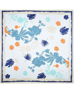 Corciova 21 Inches 100% Real Silk Flowers Neck Scarf Small Square Scarves Neckerchiefs