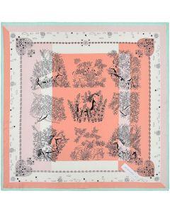 Corciova 21 Inches 100% Real Silk Vivid Horse Neck Scarf Small Square Scarves Neckerchiefs
