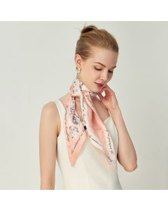 Corciova 12 Momme Satin 100% Real Mulberry Silk thin narrow long ribbon silk Women small Scarves Flowers and Letters Pattern