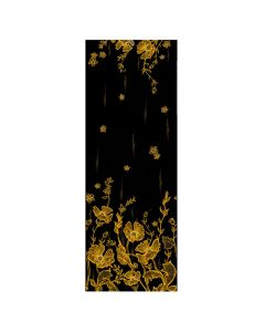 Corciova 12 Momme Double Layer 100% Real Mulberry Silk Long Women Scarfs Scarves Golden Lotus Pattern