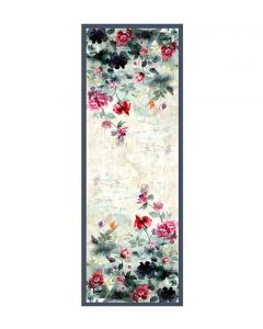 Corciova 12 Momme Double Layer 100% Real Mulberry Silk Long Women Scarfs Scarves Beautiful Lotus Pattern