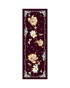 Corciova 12 Momme Double Layer 100% Real Mulberry Silk Long Women Scarfs Scarves Butterfly Love Flower Pattern