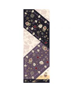Corciova 12 Momme Double Layer Satin 100% Real Mulberry Silk Long Women Scarfs Scarves Love and The Five-point Star Pattern